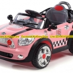 mini cooper รถมินิคูเปอร์คันใหญ่ สีชมพู