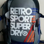 Super Dry - Retro No.7 Backpack สีเทา