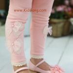 กางเกงเด็ก(เลคกิ้งลายโบว์) สีชมพู ไซส์ 9,11