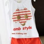ชุดเด็กLamb-Style2(เซท) ไซส์ 5 (เสื้อเด็ก+กางเกงเด็ก)