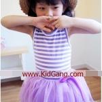 ชุดเด็ก(เดรส) สายรุ้งสีม่วง ไซส์ 9
