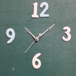 ชุดตัวเครื่องนาฬิกาญื่ปุนเดินเรียบ เข็มลายโมเดิน ขนาดเล็ก เข็มสั้น-เข็มยาวสีชมพู เข็มวินาทีสีเงิน อุปกรณ์ DIY