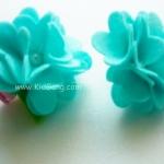 กิ๊บติดผมเด็ก(ดอกไม้3) สีฟ้าเขียว1 คู่
