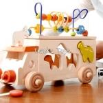 รถหยอดรูปสัตว์และขดลวด 3 in 1 (Animal Bead Bus)
