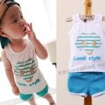 ชุดเด็กLamb-Style1(เซท) ไซส์ 7 (เสื้อเด็ก+กางเกงเด็ก)