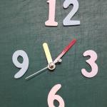 ชุดตัวเครื่องนาฬิกาญื่ปุนเดินเรียบ เข็มลายโมเดิน ขนาดเล็ก เข็มสั้นสีเหลือง-เข็มยาวสีแดง เข็มวินาทีสีเงิน อุปกรณ์ DIY