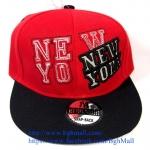 [259 บาทส่งฟรี] หมวก NY - แดง , ดำ
