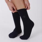ถุงเท้า(สีน้ำเงิน) เส้นใยบำบัดอัจฉริยะ แนะนำในผู้ที่เป็นเบาหวานมีอาการเท้าชา ปวดข้อเท้า หรือผู้ที่บาดเจ็บบริเวณเท้า ฝ่าเท้า รองช้ำ และบรรเทาเท้าเมื่อล้า
