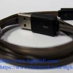 สายชาร์จ Iphone 5, Iphone 5s, IPAD MINI LIGHTNING CABLE แบบมีไฟ เปลี่ยนสีได้ - ดำ