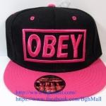 [259 บาทส่งฟรี] หมวก OBEY - ดำ , ชมพู