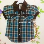 เสื้อเชิ๊ตเด็กหญิง Shelter โทนฟ้า ไซส์ 4-5Y