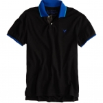 เสื้อโปโล American Eagle TIPPED POLO - COBALT BLUE