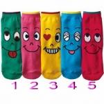 ถุงเท้าเด็กหน้าเป็น(แพค 5 คู่)ไซส์ 9-15 ซม
