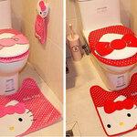 Hello Kitty  เชตอุปกรณ์ชักโครก มี 3 ชิ้น