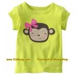 เสื้อเด็กเนื้อนิ่ม ลาย Monkey ไซส์ 4,5,6 ปี