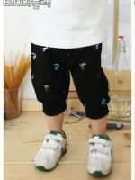 กางเกงสามส่วนเด็ก ขาจั๊ม ผ้าเนื้อนุ่ม ใส่สบาย ลายเท่ห์ๆ ใส่ได้ทั้งเด็กชายและเด็กหญิง