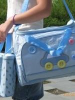กระเป๋าใส่สัมภาระคุณแม่ เซต 3 ชิ้น ลายรถสีฟ้า ราคาเซตละ 500 บาท