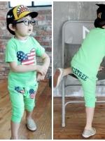 ชุดเซ็ทเด็กชาย มาใหม่ สไตล์เกาหลี เสื้อ+กางเกง แบบเก๋ น่ารัก ผ้า เนื้อนุ่ม มีไซส์ 110/120/140