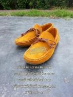 รองเท้าหนังกลับแท้ สไตร์ Tods สีน้ำตาลทอง