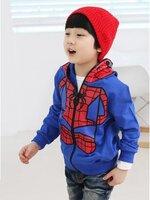 Huanzhu kids เสื้อแจ็คเก็ตสไปเดอร์แมน มีฮูทเห่ห์ๆ สไตล์เกาหลี ( ผ้าหนา ) ขนาด110