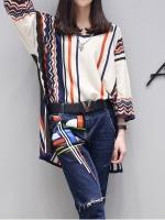 เสื้อยืดตัวยาวผ้าถักนิตติ้งไม่หนาใส่สะบาย งานสไตล์เกาหลี เนื้อผ้าดีใส่สะบาย งานนำเข้าแท้คุณภาพดี
