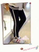 กางเกงเด็ก เทห์ๆ สีดำ สไตล์เกาหลี ผ้าเนื้อนุ่ม ใส่สบาย
