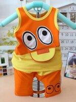 ชุดแฟชั่นเด็ก 2 ชิ้น เสื้อ + กางเกงลีส้ม-เหลืองน่ารัก สไตล์เกาหลี(เด็ก 6 เดือน-2ขวบ ค่ะ)