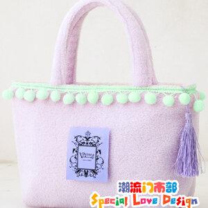 ##Sold Out## ของแท้เท่านั้น!! InRed Velnica Mini Shopping Bag กระเป๋า InRed Velnica ขนนุ่ม สีม่วงลาเวนเดอร์ซอฟท์ อีกใบที่สาวคาวาอี้พลาดไม่ได้