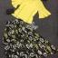 พร้อมส่ง เสื้อเหลืองและกระโปรงลายดอกไม้ thumbnail 9