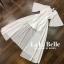 เสื้อผ้าเกาหลี พร้อมส่ง จั้มสูทกางเกงคอวีแขนระบาย thumbnail 5