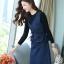 เสื้อผ้าเกาหลี set เสื้อและเดรสยีนส์ thumbnail 10