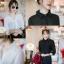 เสื้อเกาหลี พร้อมส่ง เสื้อเชิ๊ตแต่งดอกที่ปก thumbnail 6