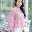 เสื้อเกาหลีลูกไม้คอกลม ผ้าชีฟอง พร้อมส่ง thumbnail 9