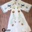 Maxi dress พร้อมส่ง เดรสเกาหลี สไตล์โบฮี ปักลาย thumbnail 8