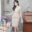 เดรสเกาหลี พร้อมส่ง Dress ลูกไม้เอวระบาย thumbnail 4