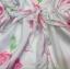 พร้อมส่ง Jumpsuit สั้นสีขาว แต่งลายดอกไม้ thumbnail 5