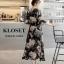 เดรสเกาหลี พร้อมส่ง Maxi Dress ลายดอก thumbnail 6