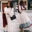 ชุดเดรสเกาหลี พร้อมส่ง Dress ยาวกระโปรงบาน thumbnail 2