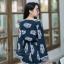 เสื้อผ้าเกาหลี พร้อมส่ง จั้มสูทขาสั้น ป้ายอก ผ้านิ่ม ใส่สบาย thumbnail 4