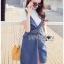 เสื้อผ้าเกาหลี พร้อมส่ง เอี้ยมกระโปรงยีนส์์ thumbnail 11