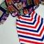 (พร้อมส่ง)ชุดเดรสเข้าเซ็ทเสื้อกับเดรสสายเดี่ยว ลุคสาวchic เสื้อตัวนอกทรงหลวมพิมพ์ลายแสตมป์ลายพิมพ์สีสันชัดเจนนะคะ เดรสตัวในโทนขาว-น้ำเงิน-แดง เข้าชุดกันค่ะ mix&matchได้หลายสไตล์ thumbnail 7