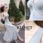 ชุดเดรสเกาหลี Maxi dress ไขว์ด้านหน้า พร้อมส่ง thumbnail 13