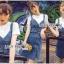 เสื้อผ้าเกาหลี พร้อมส่ง เอี้ยมกระโปรงยีนส์์ thumbnail 1