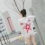 เสื้อเกาหลี เสื้อยืดแบบสวม มีฮูด พร้อมส่ง thumbnail 5