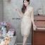 เดรสเกาหลี พร้อมส่ง Dress ลูกไม้เอวระบาย thumbnail 2
