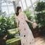 เดรสเกาหลี พร้อมส่ง เดรสผ้าลูกไม้ซีทรู ปักดอกไม้ thumbnail 8