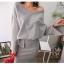 เสื้อเกาหลี ปาดไหล่กับกระโปรง thumbnail 8