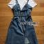เสื้อผ้าเกาหลี พร้อมส่ง เอี้ยมกระโปรงยีนส์์ thumbnail 17
