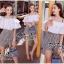 เสื้อผ้าเกาหลี สีขาวระบายกับกางเกงเอวสูง พร้อมส่ง thumbnail 7