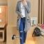 เสื้อเกาหลี ไหมพรมตัวยาวมี3สี พร้อมส่ง thumbnail 5